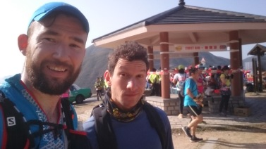 At the first Water Point. 10k in.
